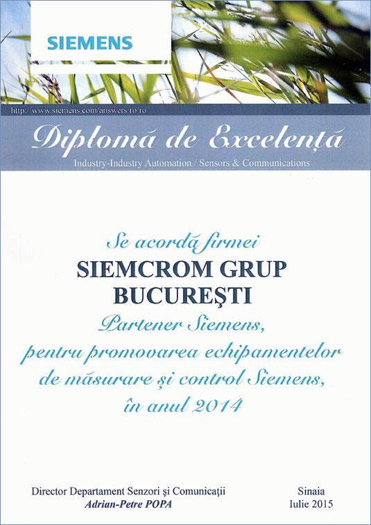 Diploma Excelenta Siemens
